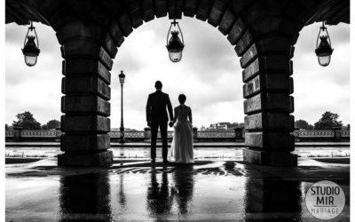 Séance photos engagement au Pont de Bercy à Paris