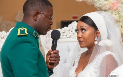 Photographe de mariage : échange des vœux lors de la cérémonie religieuse dans le 94