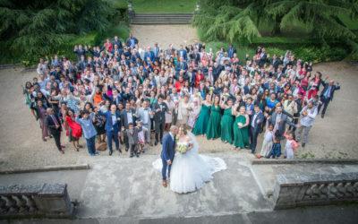 Pour les Photos de groupe de votre Mariage : optez pour le drone !