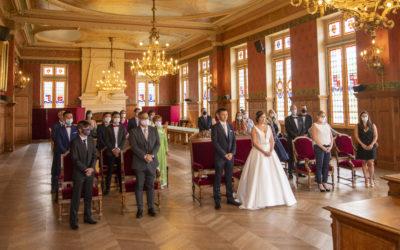 Photographe de mariage dans le Val de Marne – Union des mariés à la mairie de Lognes